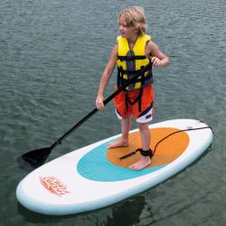 Oppblåsbar SUP padlebrett WaveCrest 65085 - 204x76cm